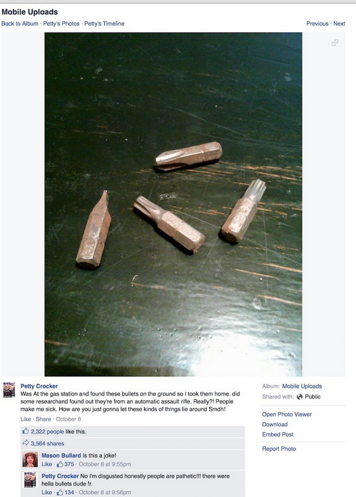 Idiot Liberal thinks Interchangeable Screwdriver Bits are