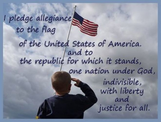 the meaning behind the united states pledge of allegiance I pledge allegiance to the flag of the united states of america, and to the republic for which it stands: one nation under god, indivisible, with liberty and justice for all these are the words to the pledge of allegiance and if someone prefers to stay quiet while others pledge then please do so.