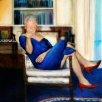 Bill Clinton in Monica Lewinsky's blue dress
