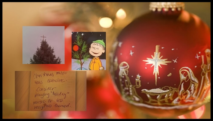 """Christmas – Peanuts, Tree Toppers, Music, all """"offensive"""""""